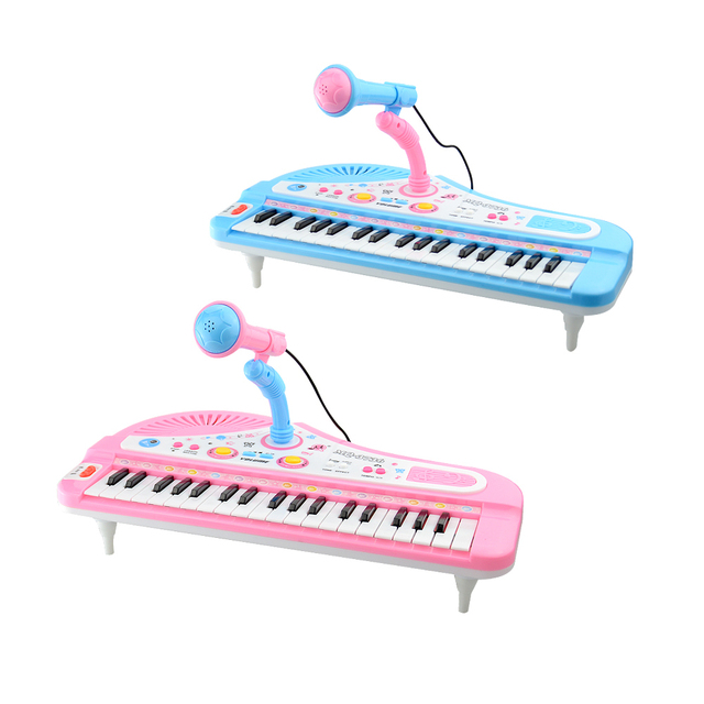 Children Piano Toys 37 Keys Mini Electronic Keyboard with Microphone Musical Instrument Baby Electone For Kid Gifts No Box