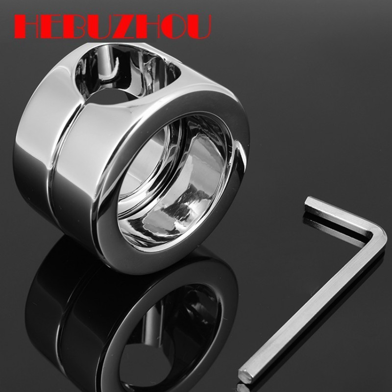 HEBUZHOU Stainless steel Ball Weight Scrotum Ring Penis cock testis Restraint device Adult sex products 620g Ball Stretcher
