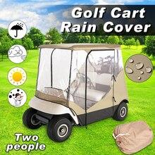 Водонепроницаемый 210D ткань Оксфорд ПВХ гольф-кары крышка дождь 2 пассажира для клуба автомобиля классические аксессуары Гольф автомобиль крыша корпус