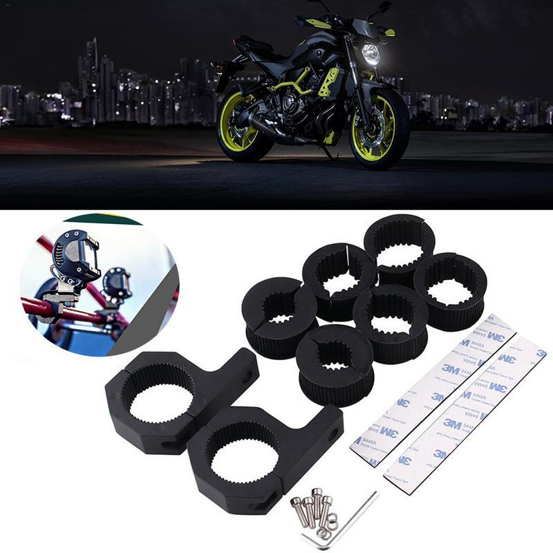 2 PCS Motorcycle Fog Light Bar Horizontal Bar Clamp Mounting Kit Universal Anti-collision Bar Protection