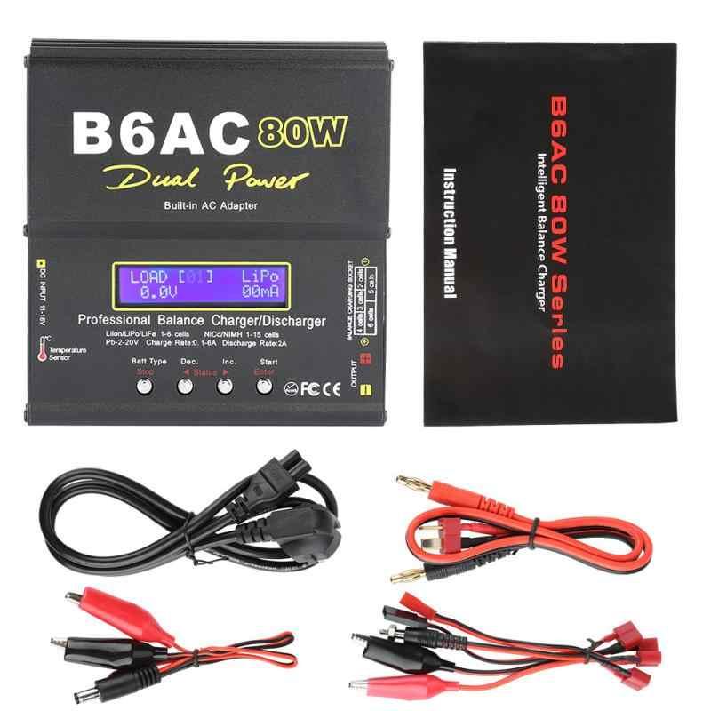 B6AC 80 W الرقمية LCD شاحن ميزان مفرغ ل يثيوم بو البلى متولى حسن RC بطارية الساخن