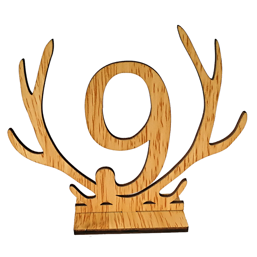 1-20 Antler Wooden Table Cards Number Sets Hollow Out Ornaments For Wedding Party Favors Decoration Name Place Cards Numbers new image