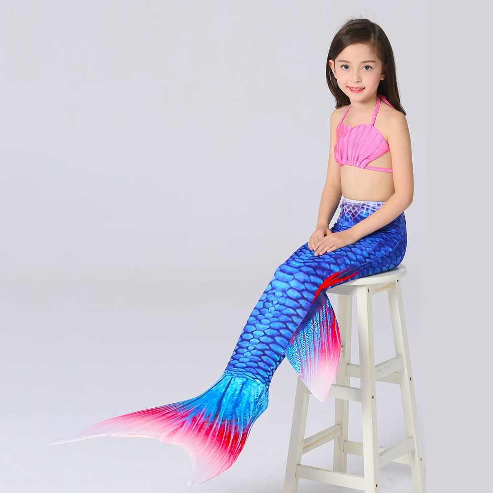 Sexy Mermaid Tails For Swimming Adult Mermaid Tail Clothing Swimsuit Kids Cosplay Girl Mermaid Clothes Women Leisure Vacation in Two Piece Separates from Sports Entertainment