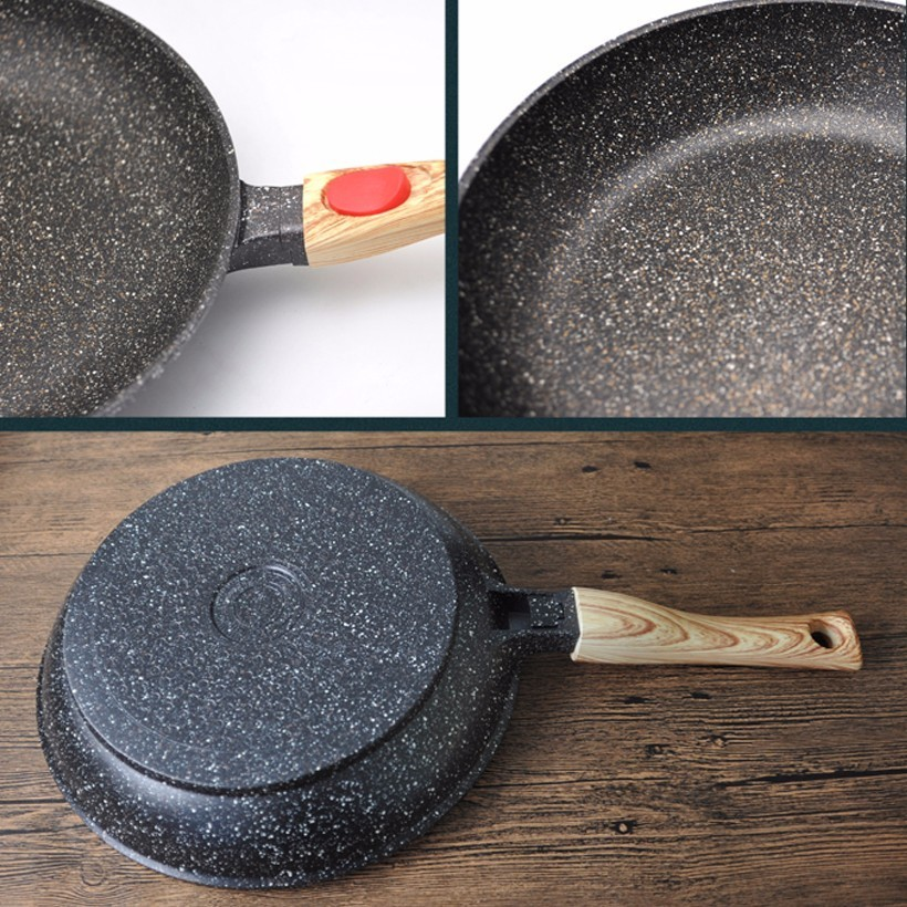 Maifan Stone Not-Sticky Removable Handle Microwave Induction Gas Frying Pan 4