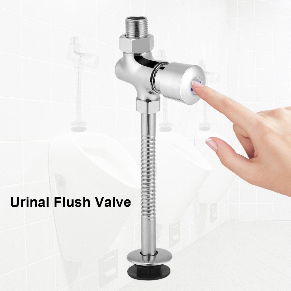 Zinc Alloy 0.8Mpa Bathroom Toilet Urinal Flush Valve Button Type Manual Delay Automatic Shutoff Accessories
