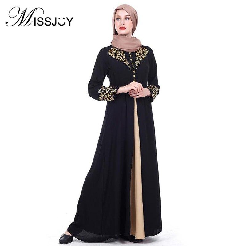 f90eb360c6 Abaya musulmana Vestido de encaje para las mujeres Flor de gasa suelta Vestido  árabe islámica ropa