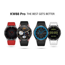 Kingwear KW88 Pro 3G Smartwatch Phone Android 7.0 MTK6580 Quad Core 1.3GHz 1GB + 16GB GPS Nano SIM Card Smart Watch(China)