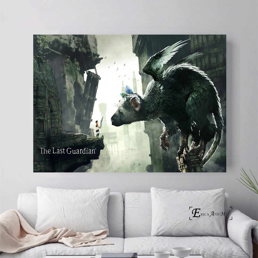 The Last Guardian Game Painted Canvas Painting Posters And Prints For Living Room No Framed Wall Art Picture Home Decor