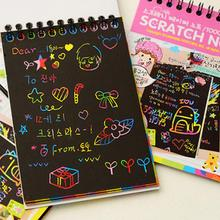 12 Sheet Magic Scraping Drawing Paper Colorful Painting Doodle Notebook Scratch Art Gift for Kids Random Color