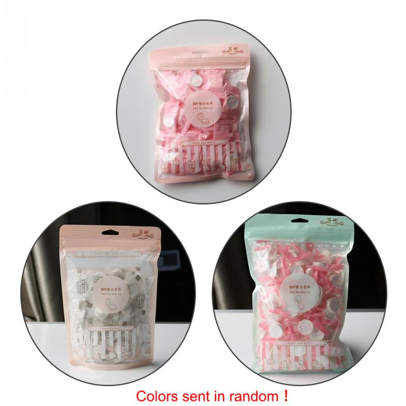 50PCS Household Travel Wet Wipes Magic Compressed Towel Beauty Clean Wash A Face Towel Mini The Disposable Towels