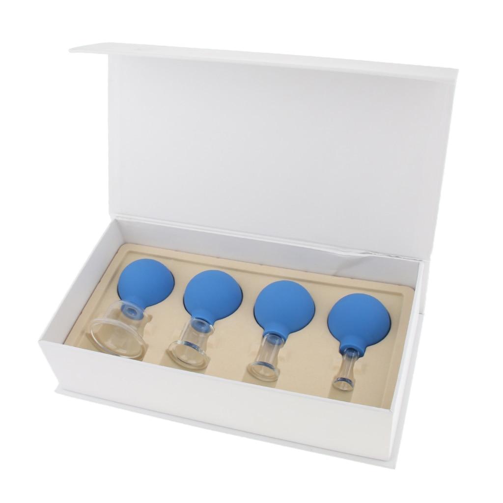 Image 5 - 4 peças de vidro silicone anti celulite massagem vácuo cupping copos conjunto kitMassagem e relaxamento   -