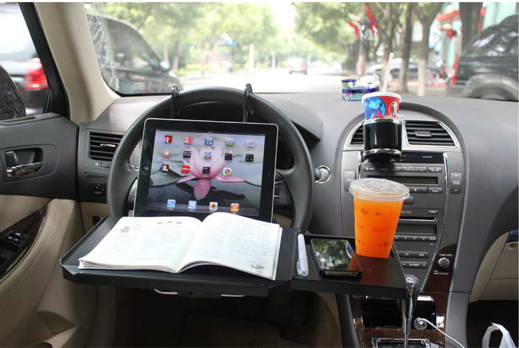 Portable Foldable Car Laptop Stand Foldable Car Seat/Steering Wheel Laptop/Notbook Tray Table Food/drink Holder Stand SD-1508