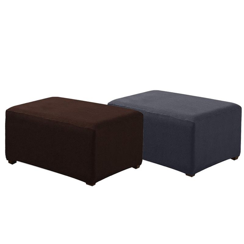 Wondrous Us 10 95 37 Off Plaid Polar Fleece Sofa Cover Foot Stool Cover Dust Proof Home Textile Footrest Case Footstool Stretchy Slipcover In Sofa Cover From Ocoug Best Dining Table And Chair Ideas Images Ocougorg