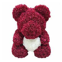Big Size Foam Simulated Rose Teddy Bear Doll Plush Doll Decoration Romantic Girlfriends Presents Valentine's Day Gift