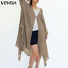 VONDA Women Blouse Shirt 2019 Summer Cas