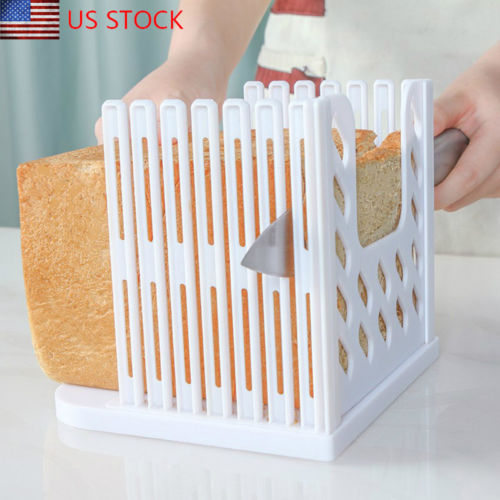 New Bread Slicer Cutter <font><b>Mold</b></font> Maker Slicing Cutting Guide Loaf Toast Kitchen Tool image