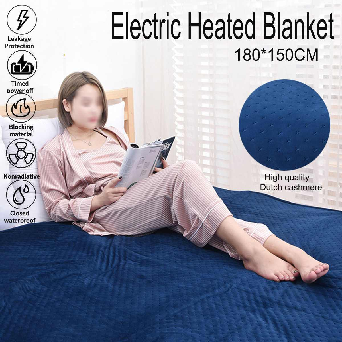 Electric Heated Carpet 180x150cm 220V Timing Heated Blanket Car Van Truck Fleece Cosy Warm Winter Electric Heater Blanket CoverElectric Heated Carpet 180x150cm 220V Timing Heated Blanket Car Van Truck Fleece Cosy Warm Winter Electric Heater Blanket Cover
