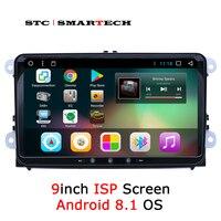 SMARTECH 2 Din Android OS 8,1 автомобильный Радио gps навигации головное устройство для VW Volkswagen passat b6 Гольф 5 поло JETTA SKODA СИДЕНЬЯ