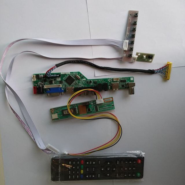 "B154EW02 ためV1 15.4 ""1280*800 パネルmoniter diyテレビusb led液晶av vga hdmiオーディオコントローラドライバボード"