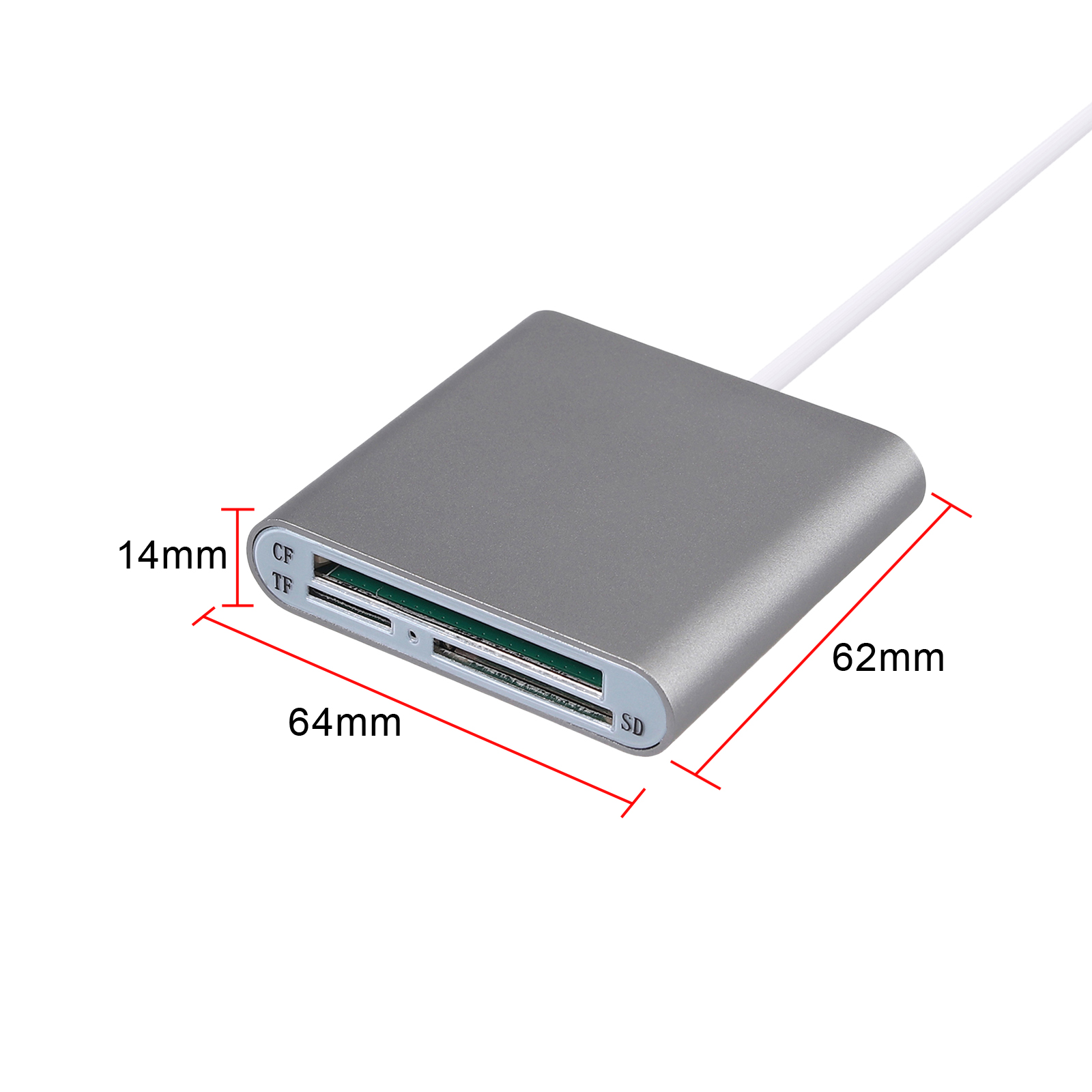 Image 2 - Proster  Multi in 1 Type C to CF SD TF Camera External Multi Card Reader for Macbook Pro Air OTG USB C Devices Super Speed-in Card Readers from Computer & Office