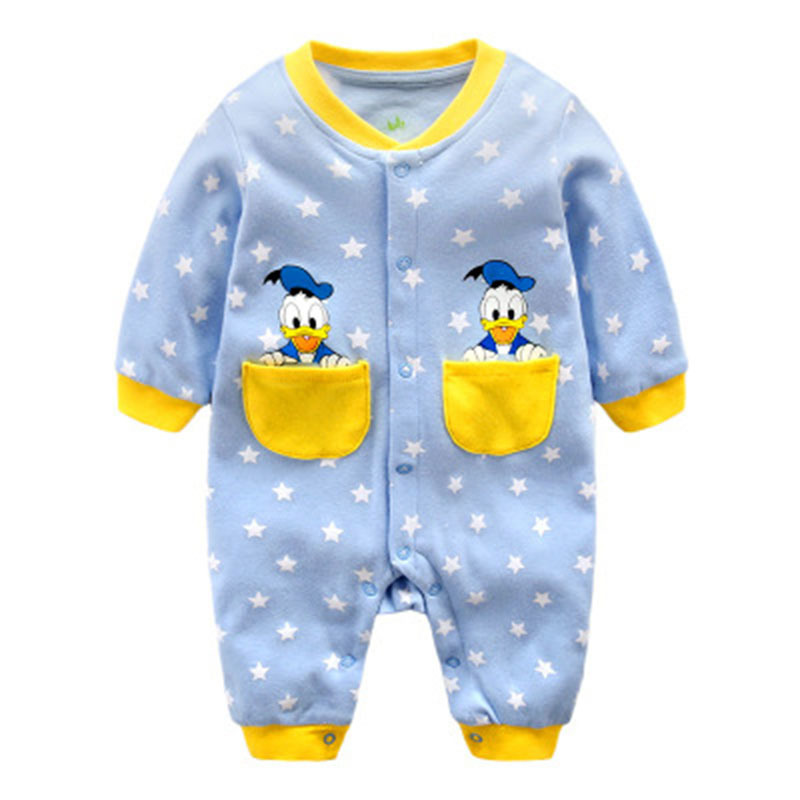 Disney Baby Cartoon Onesies Spring Autumn Clothes For Baby Girl Boy Newborn 100% Cotton Clothes Romper For 0-12 Months Baby