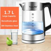 111.7L Electric Kettle Teapot Glass Transparent 1800W Household Quick Heating Electric Boiling Pot Auto Power Off Boiler Sonifer