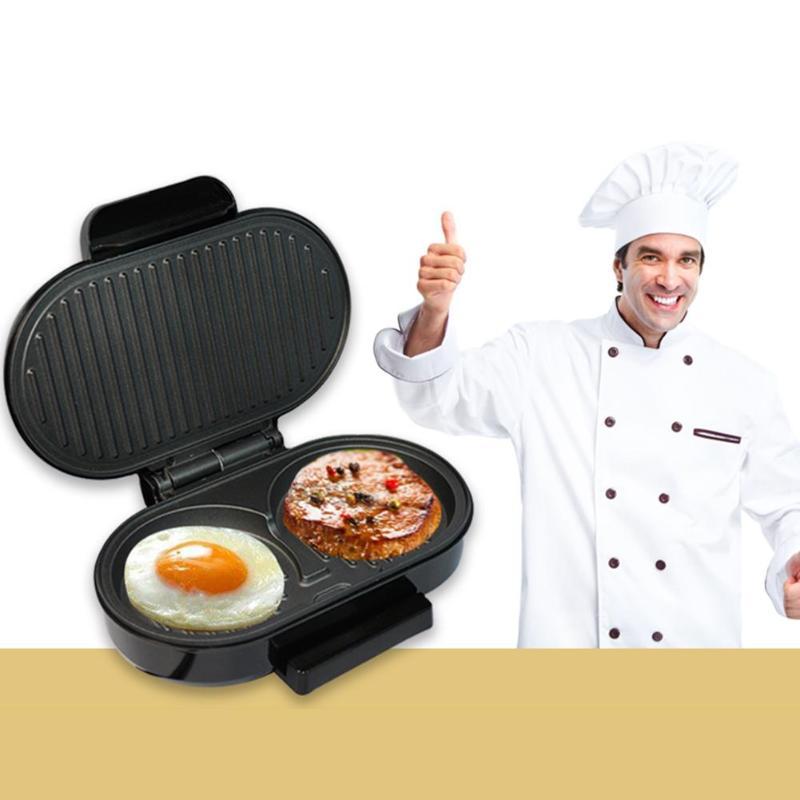 750W Stainless Steel Sandwish Maker Electric Grill BBQ Steak Hamburger Meat Roaster Machine Egg Frying Maker For Home 1124
