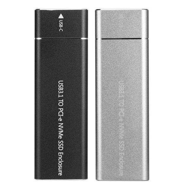 PCIE SSD USB3.1 유형 C M.2 M 키 NVMe PCI E 하드 디스크 드라이브 하우징 케이스 10Gbps 2280 HDD 인클로저 모바일 박스 솔리드 스테이트 박스