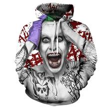 Super villain role clown Hoodies by 3D Men Women Sweatshirts men Fashion Pullover Autumn Tracksuits Harajuku Casual Animal Hoodi