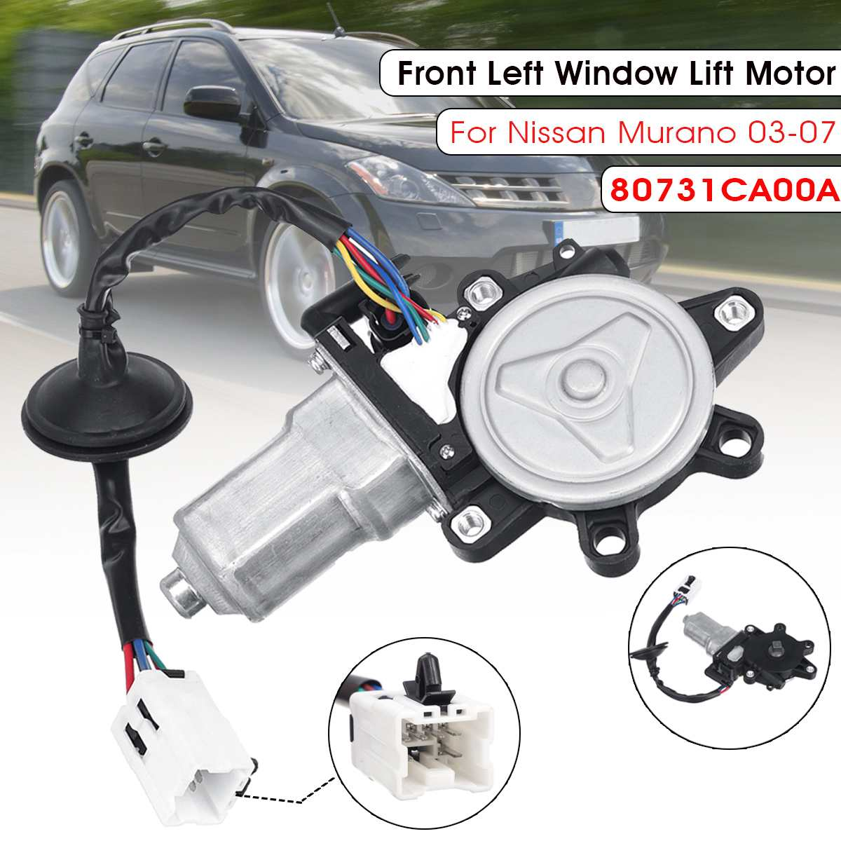 Power Front Left Driver Side LH Window Motor for Nissan Murano 2003 2004 2005 2006 2007 80731CA00A|Window Motors & Parts| |  - title=