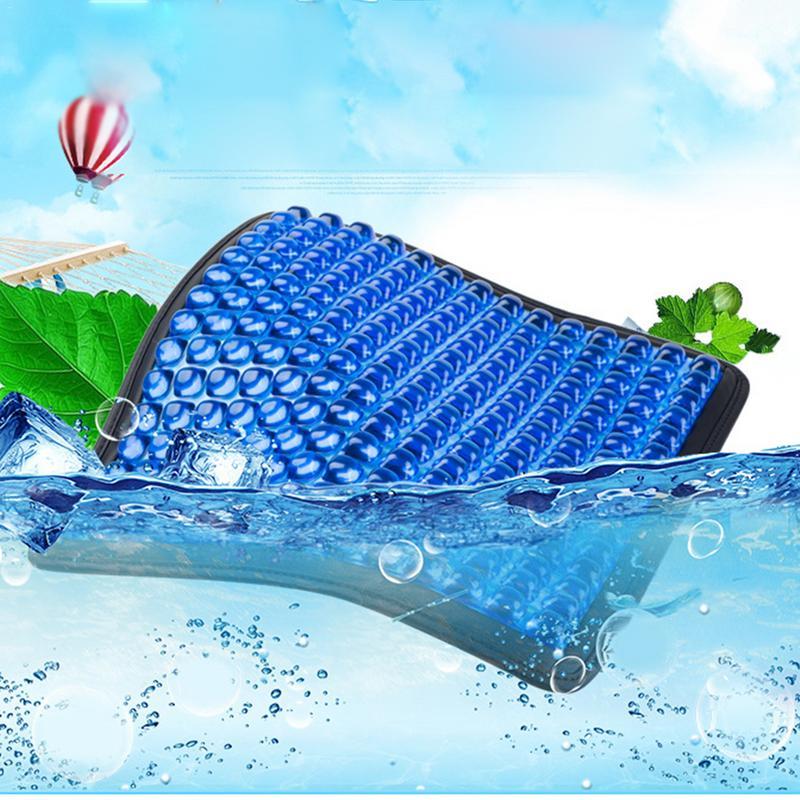 Coussin de siège de refroidissement amélioré en Gel d'été coussin respirant antidérapant pour le soulagement des douleurs au dos sciatique