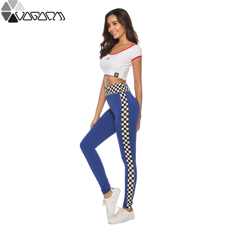 Summer Women Active High Waist Yoga Gym Leggings Flex Hip Up Mujer Fitness Full Pants XL Running Workout Mosaic Printed Trouser in Yoga Pants from Sports Entertainment