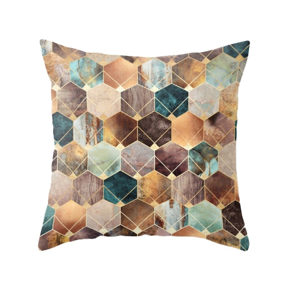 Geometric Nordic Cushion Cover decorative cushion Throw Pillow Cover Polyester Cushion Case Car Sofa Bed Decorative Pillowcase in Cushion Cover from Home Garden