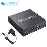 eSYNiC SCART To HDMI 720p/1080P Converter HDTV STB PS3 PS4 Power Adapter Support PAL NTSC And RGB CVBS Low power 24 Hours Work