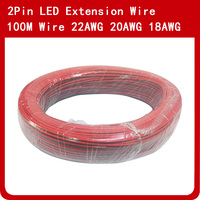 100m 2Pin Electric Extension Wire Cable 18AWG 20AWG 22AWG LED Connector Cord For Single Color LED Strip Light