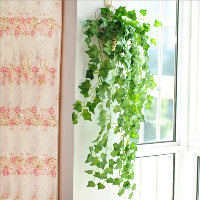 2.4m Artificial Ivy Leaf Garland Plants Vine Green Garland Vine Fake Hanging Plants For Home Wedding Party Decoration