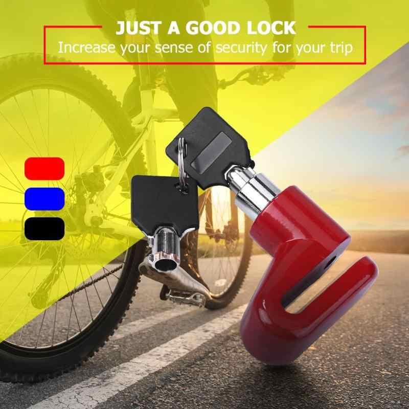 Anti Theft Disk Rotor Rem Cakram untuk Skuter Sepeda Motor Aksesoris Rem Rotor Kunci Keamanan Sepeda Safety