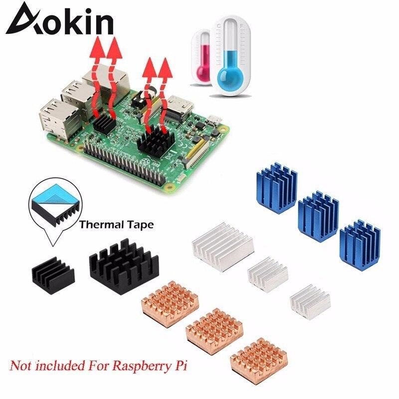 For Raspberry Pi 3 Model B + Plus Heat Sink Copper Aluminum Heatsink Radiator Cooler Kit For Raspberry Pi 3 B+/3 2 Hot Sale