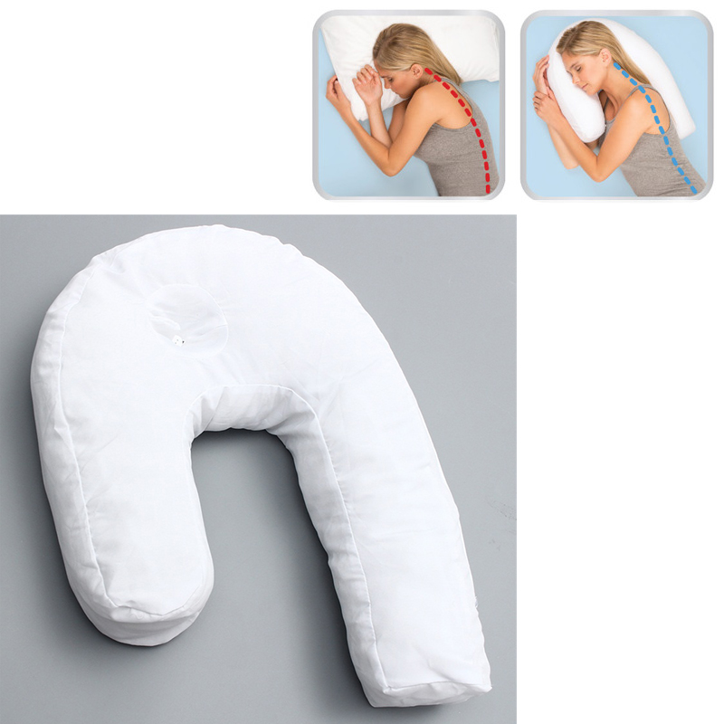 U Shaped Travel Neck Back Pillow for Side Sleeping Neck Spine Protection Cushion