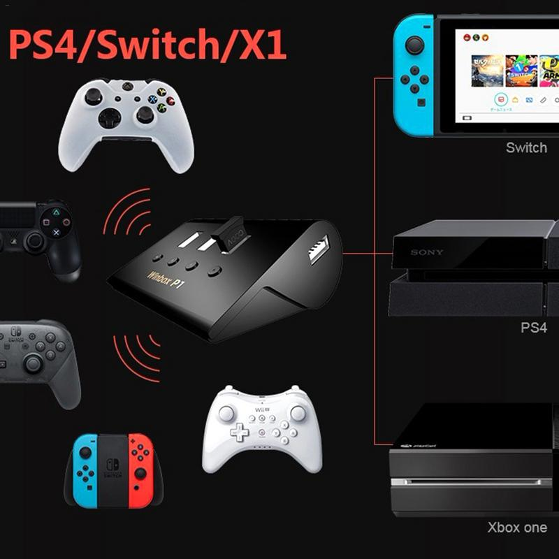 US $31 59 |Keyboard/Mouse Gamepad Adapter 4USB Independent Switch Converter  For FPS PS4 P1 XBOX,AoV,Mobile Legend,RoS,Cutter-in Replacement Parts &