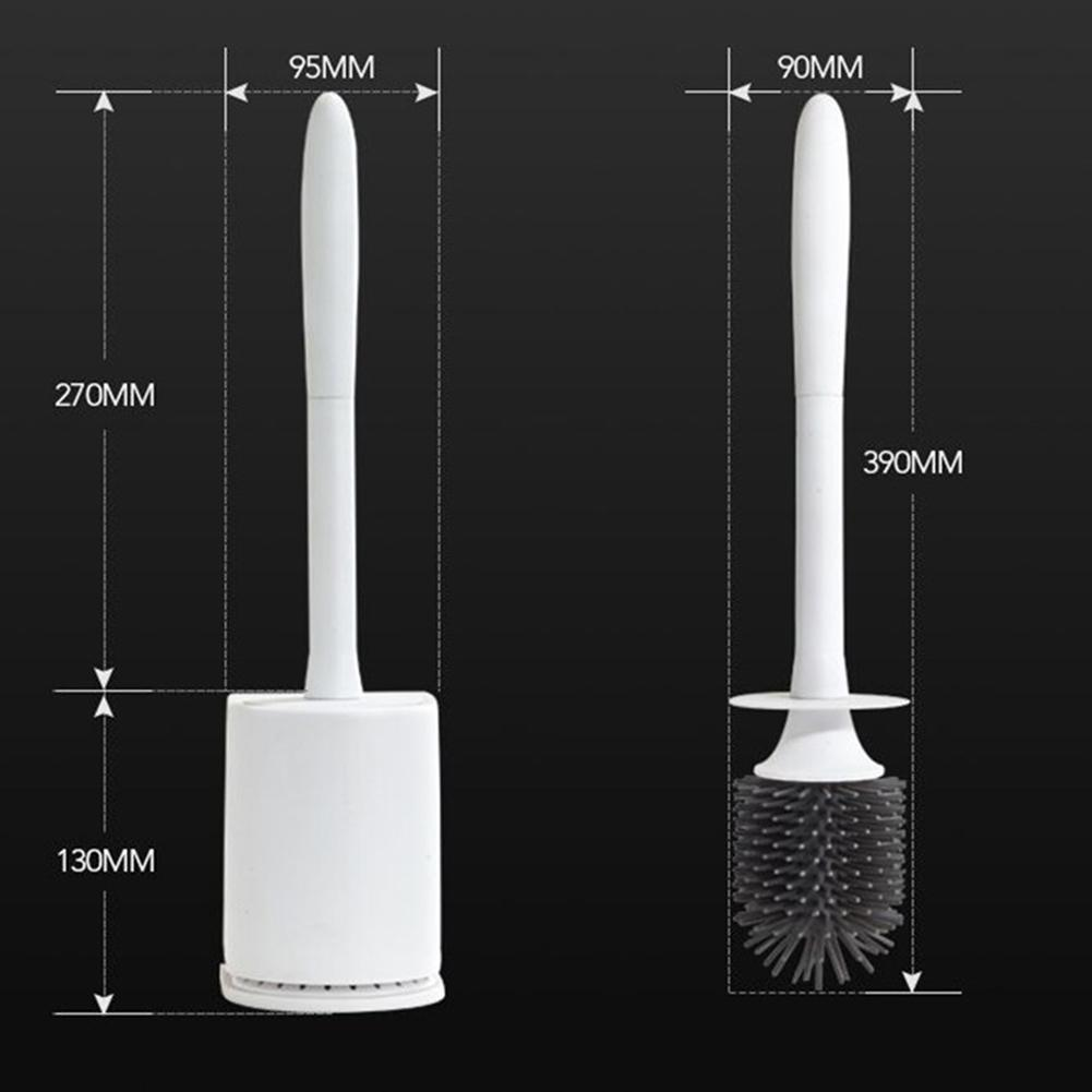Adeeing Long Handle Brush + Holder Bathroom Hygiene ABS Adeeing Cleaning Brush Washroom Brush Household Cleaning Brush Set