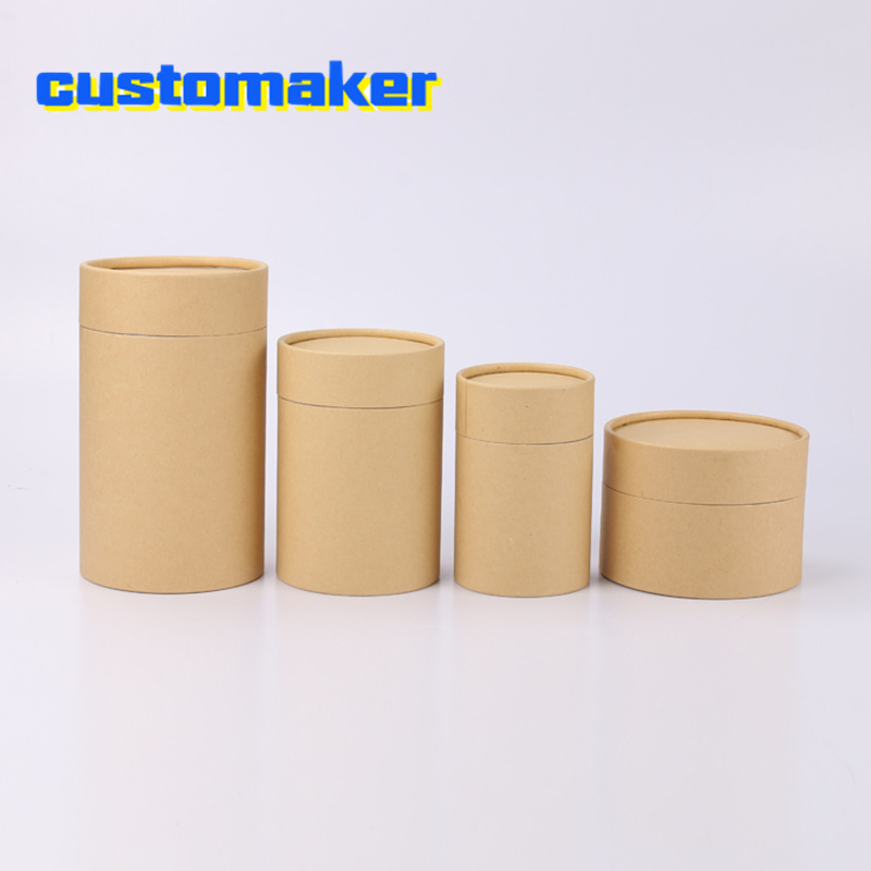 10pcs Kraft Paper Tube Round Cylinder Tea Coffee Container Box Biodegradable Paperboard Packaging For Drawing/T Shirt/incense