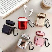 Elektroliz yumuşak Kabuk Kulaklık kabuk airpods Için kılıf Bluetooth Kablosuz Darbeye Dayanıklı çanta Şarj airpod Kutusu Koruyucu kapak