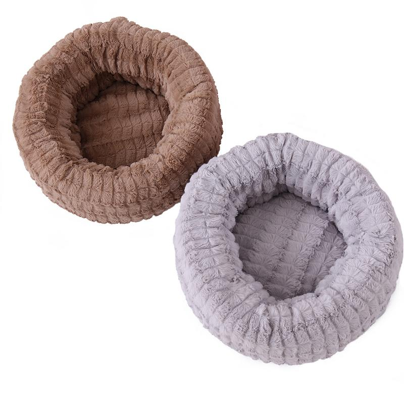 High Quality Cat Bed Winter Warm Bed Pet Nest Long Plush Teddy Puppy Nest Plush Small And Medium Dog Warm Nest Pet Product
