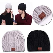 Wireless Bluetooth 4.1V Beanie Knitted Winter Running Hat Headset Mic  Headphone Music Headbands Sport Smart 14767f03732f