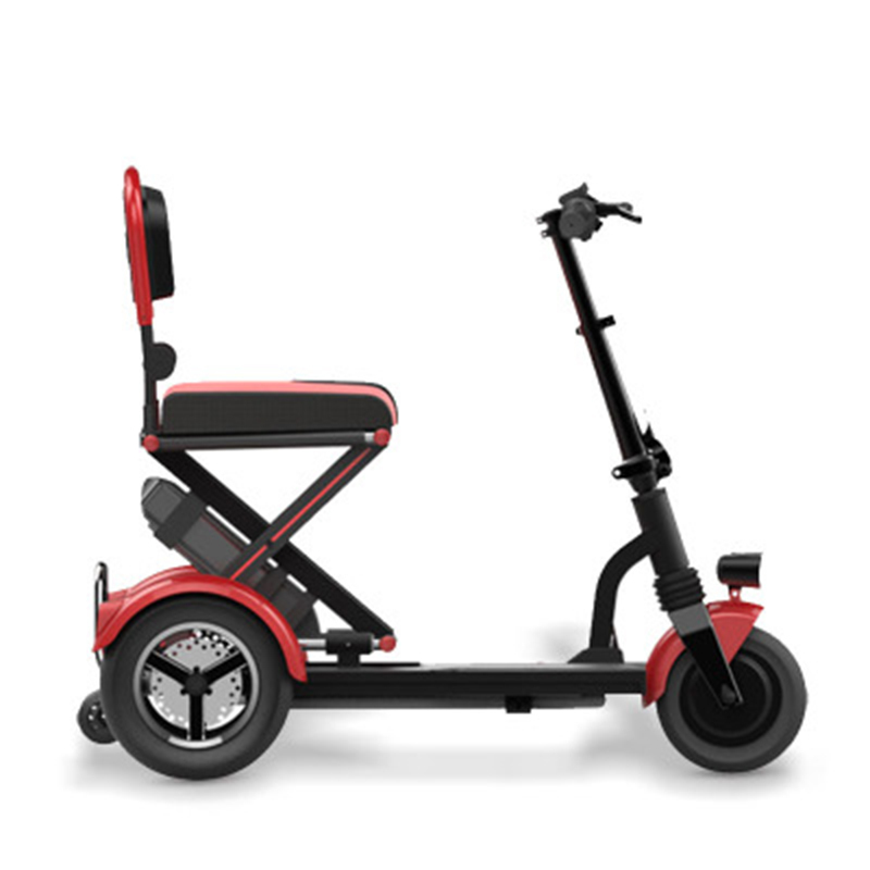 2018 Folding Electric Vehicle Elderly Scooter Electric Tricycle Disabled Bicycle Lithium Battery folding electric tricycle scooter