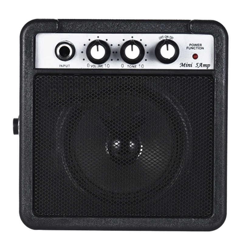 Мини 5 Вт 9 В на батарейках усилитель динамик для акустической/электрической гитары укулеле высокая чувствительность