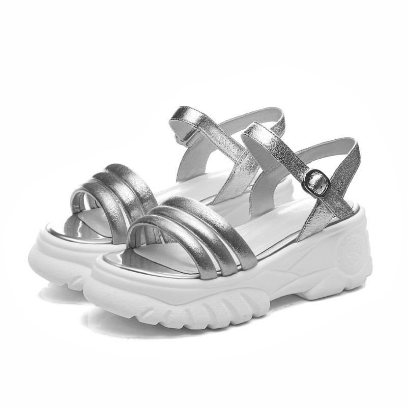 Moraima Snc 2019 New Fashion April Woman Summer Shoes Solid Silver Sandal Thick Sole Student Cozy Leisure Girls Shopping ShoesMoraima Snc 2019 New Fashion April Woman Summer Shoes Solid Silver Sandal Thick Sole Student Cozy Leisure Girls Shopping Shoes