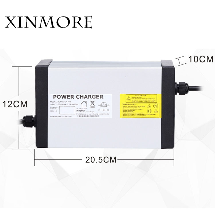 XINMORE 84V 10A 9A 8A Lithium Battery Charger For 72V E-bike Li-Ion Battery Pack AC-DC Power Supply for Electric Tool