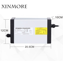 цена на XINMORE 84V 10A 9A 8A Lithium Battery Charger For 72V E-bike Li-Ion Battery Pack AC-DC Power Supply for Electric Tool